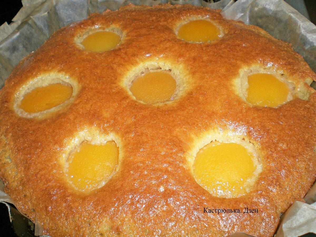Нежный пирог с персиками «Восхитительный»